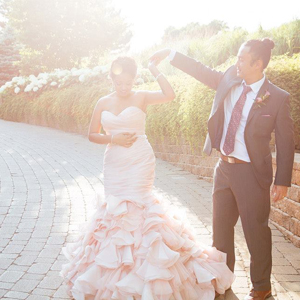 pink wedding dress toronto stylish indie wedding