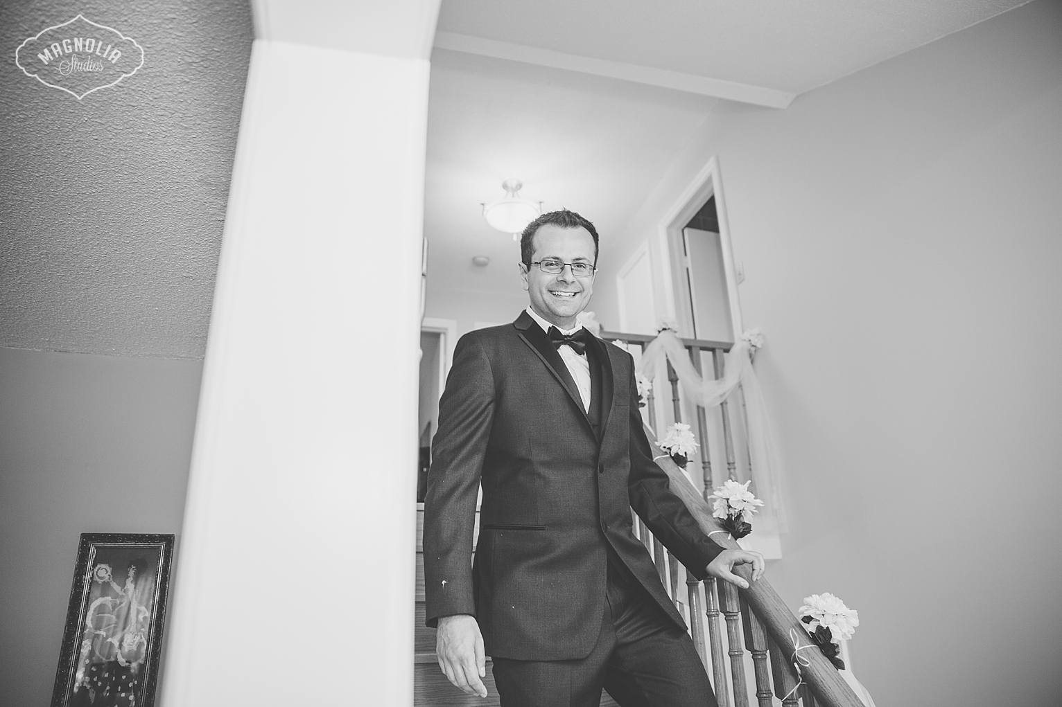 grooms vintage suit with bowtie