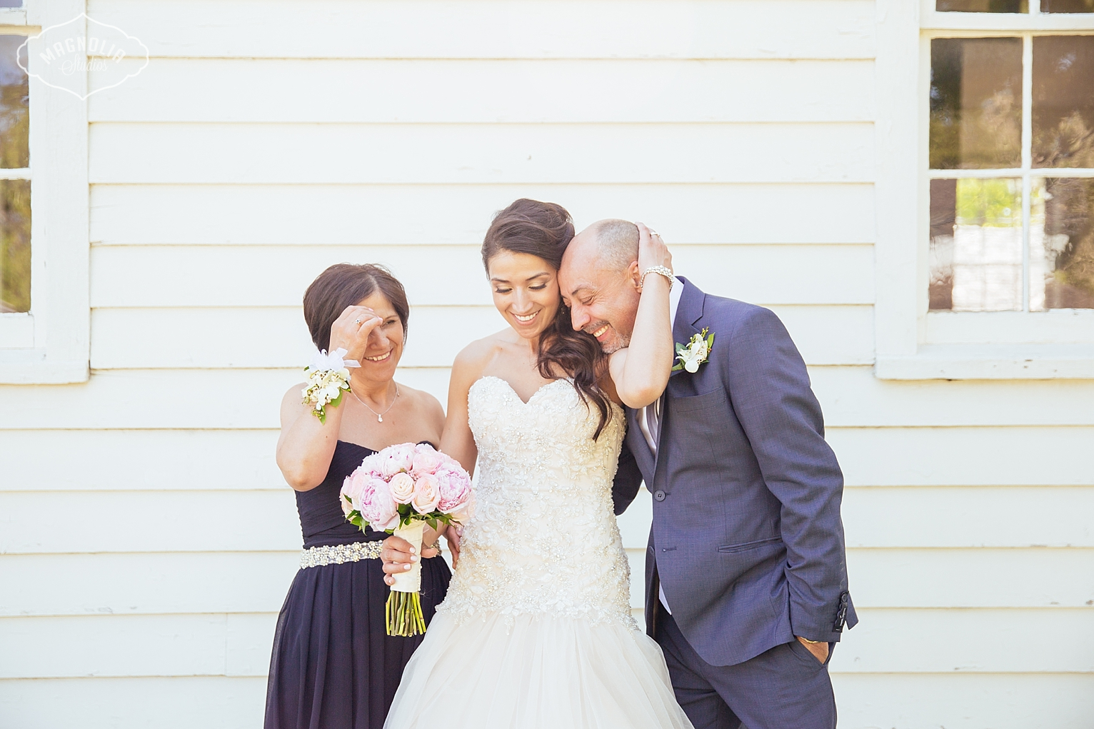 Bride and her dad on her wedding day