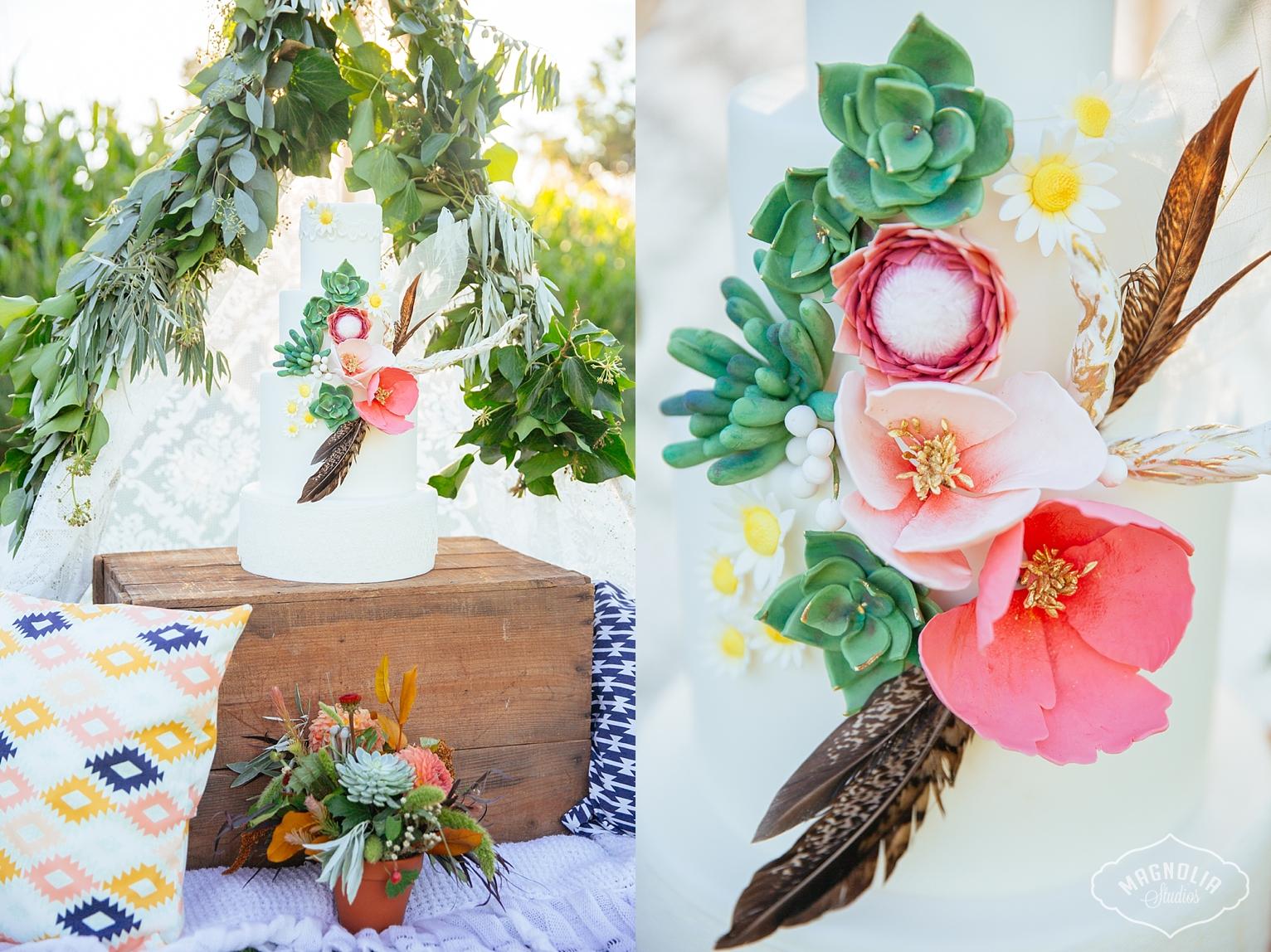 Bohemian wedding cake toronto