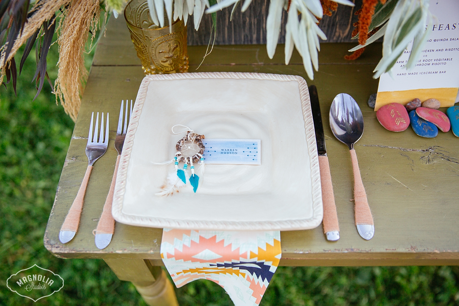 dream catcher wedding place card