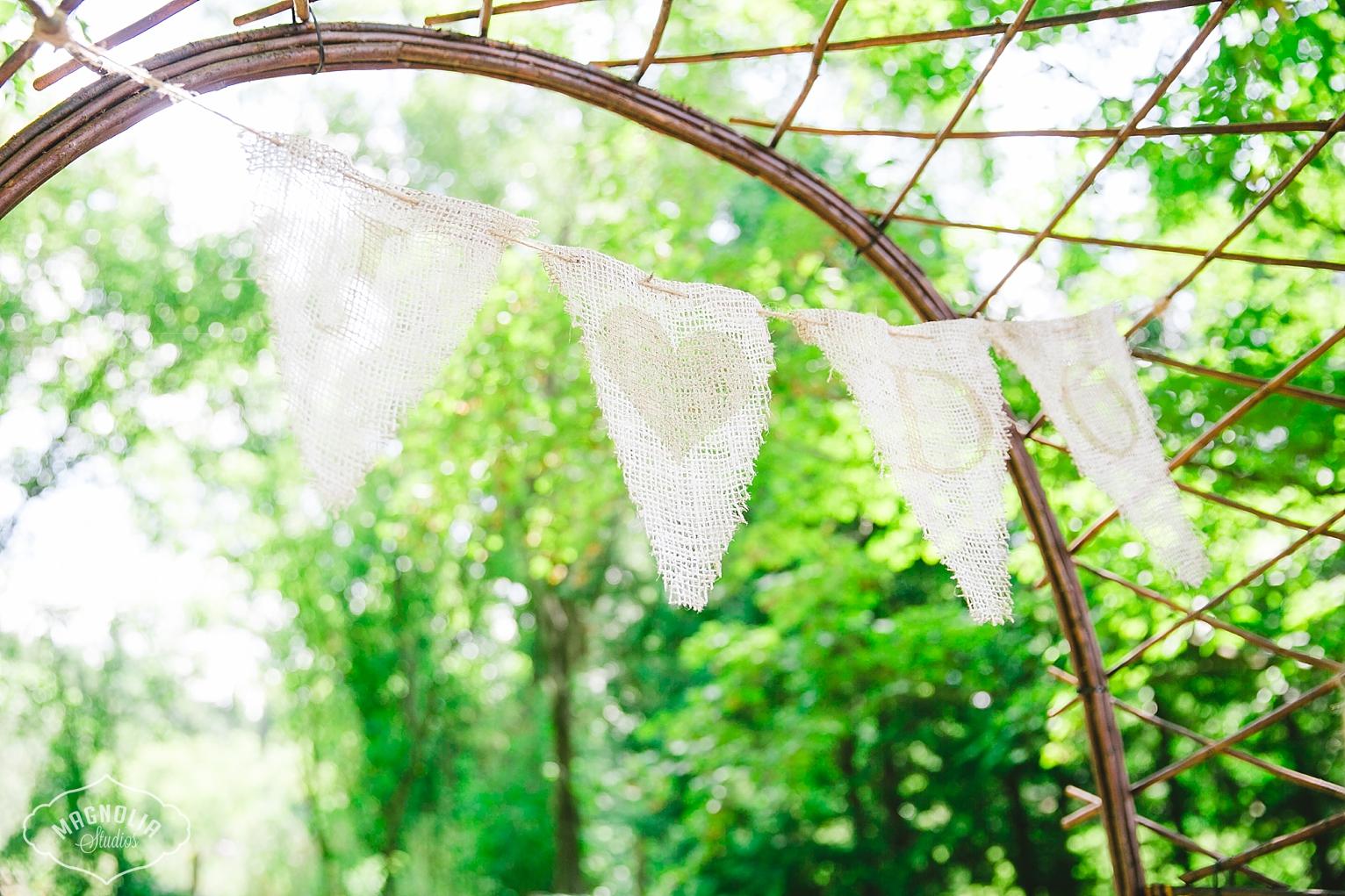 bunting for bohemian indie weddings