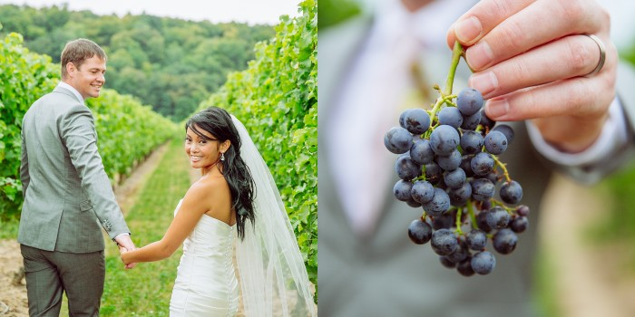 Organic Chic wedding in Niagara