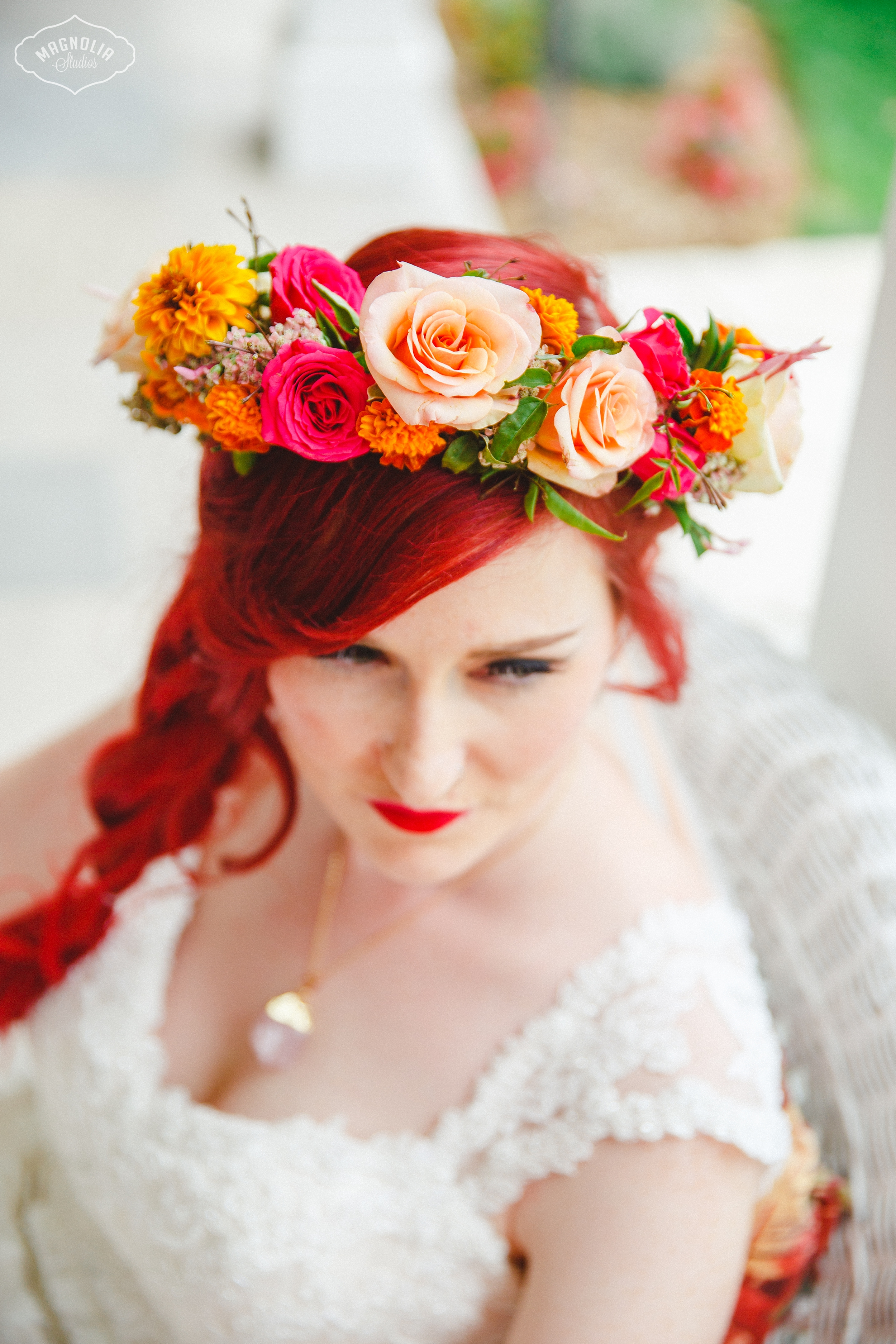 Colourful Bohemian Indie Wedding Flower Crown