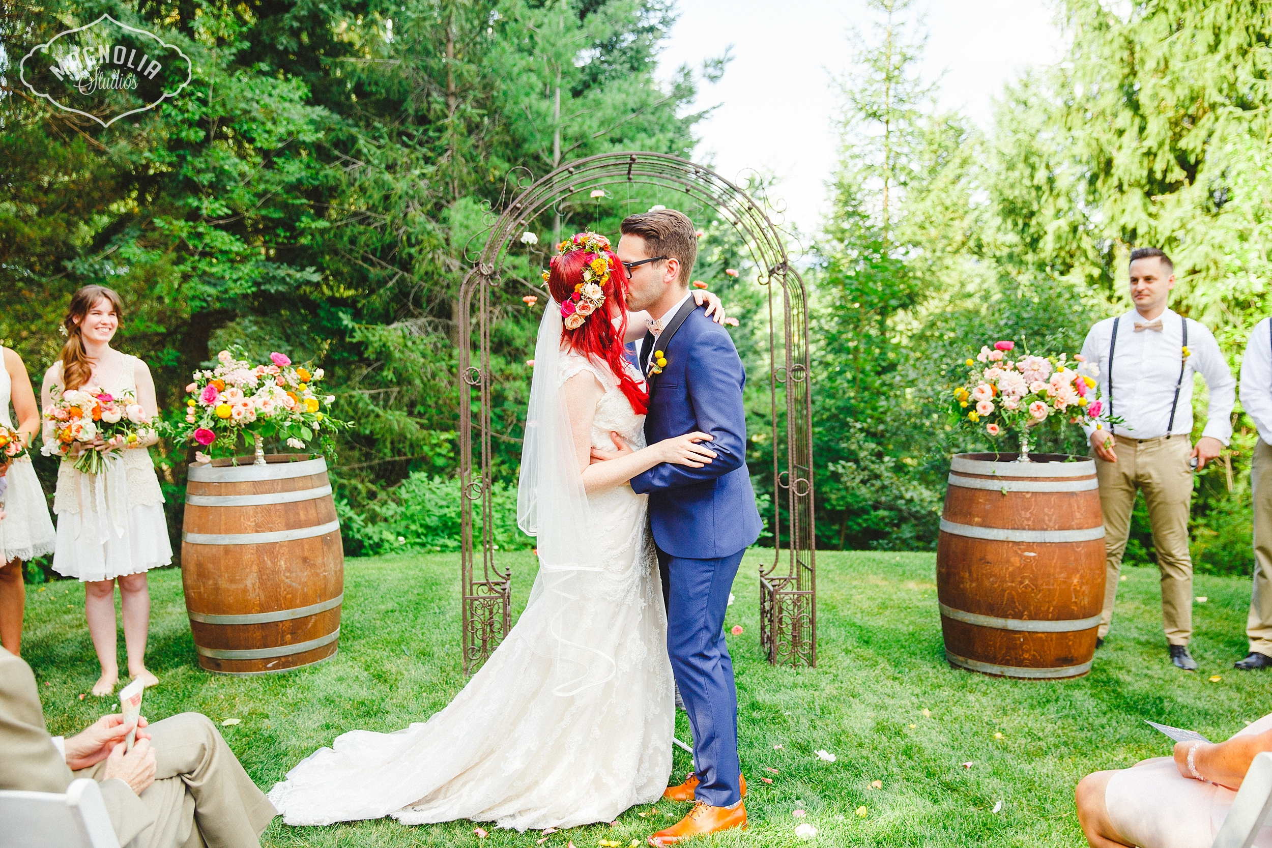 colourful bohemian wedding Collingwood