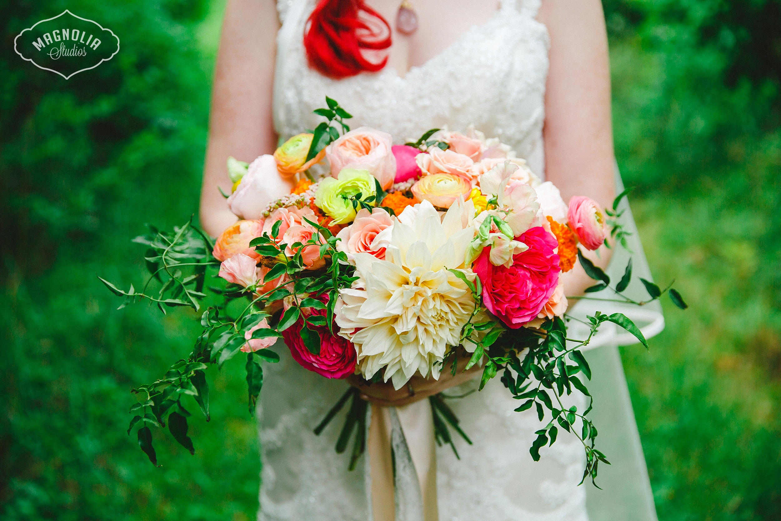 Colourful Bohemian Indie Wedding Flowers