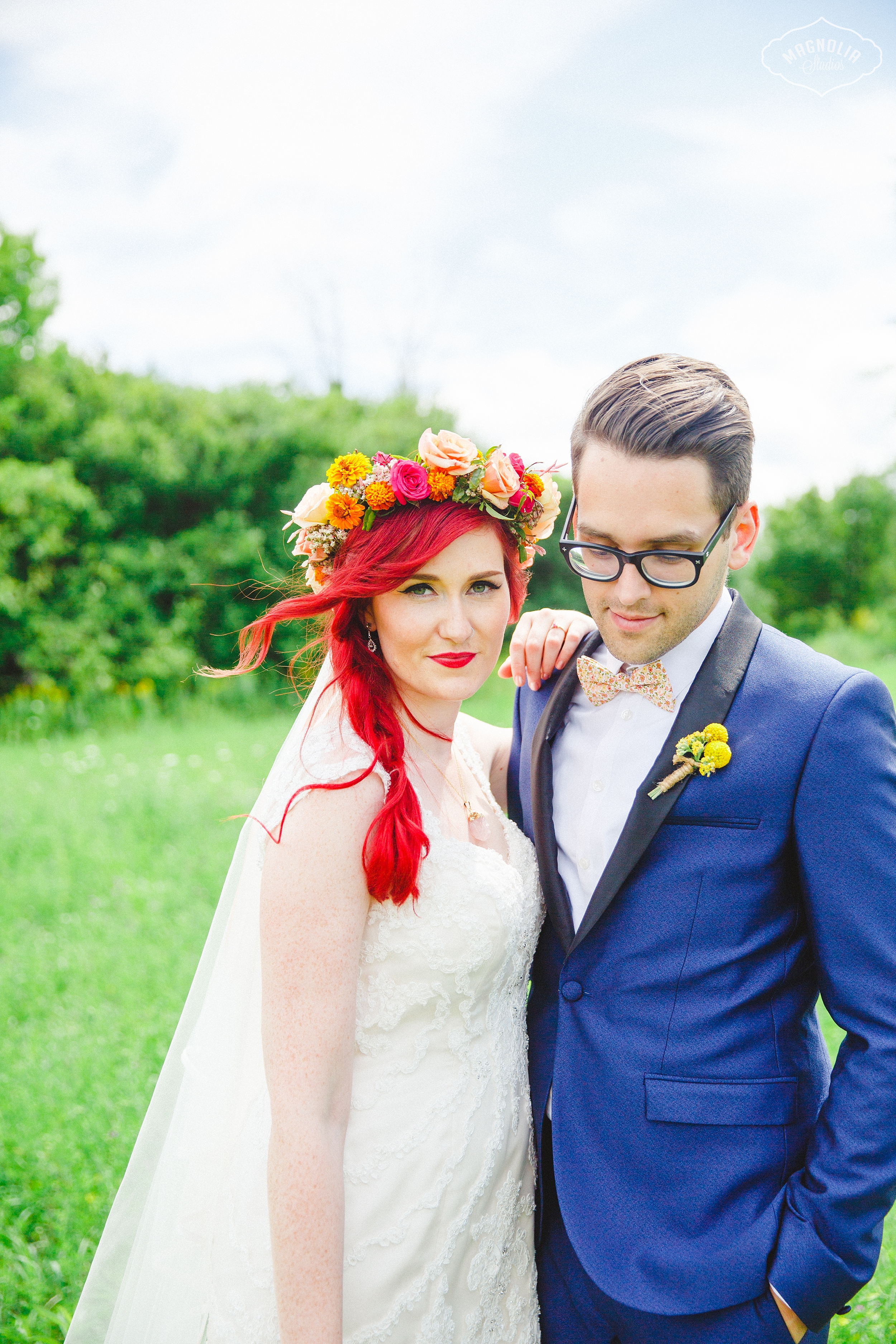 Colourful Bohemian Indie Wedding Toronto