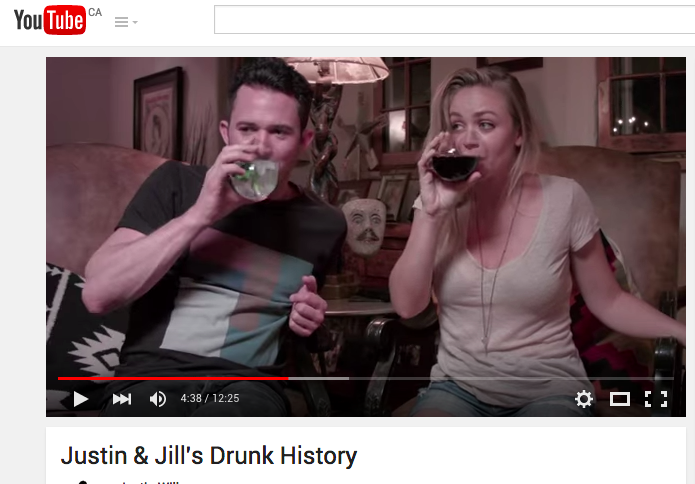 Justin Willman and Jillian Sipkins Drunk History Wedding Video