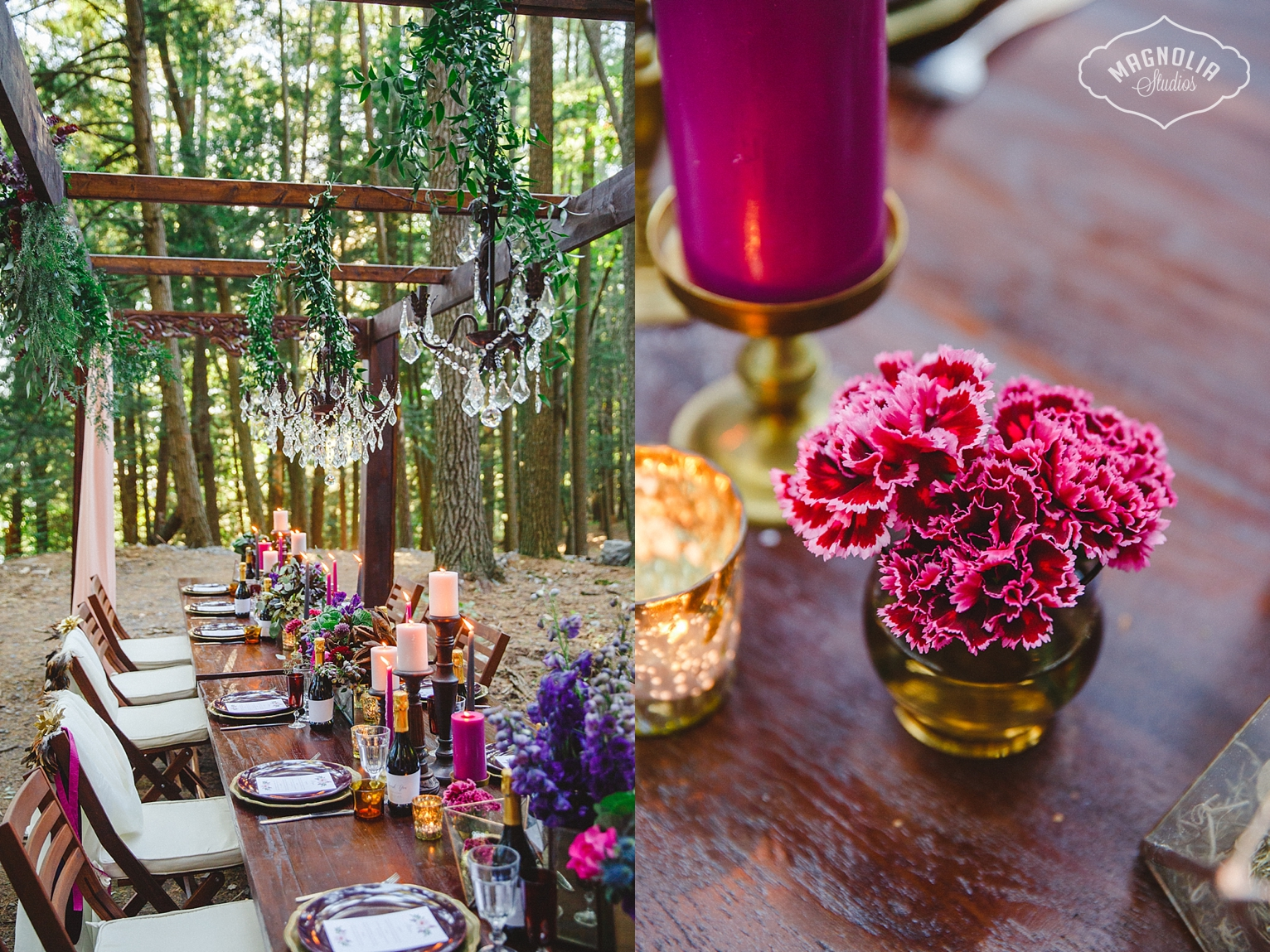 Balinese mahogany wedding pergola by Lucy Myers Events and Design