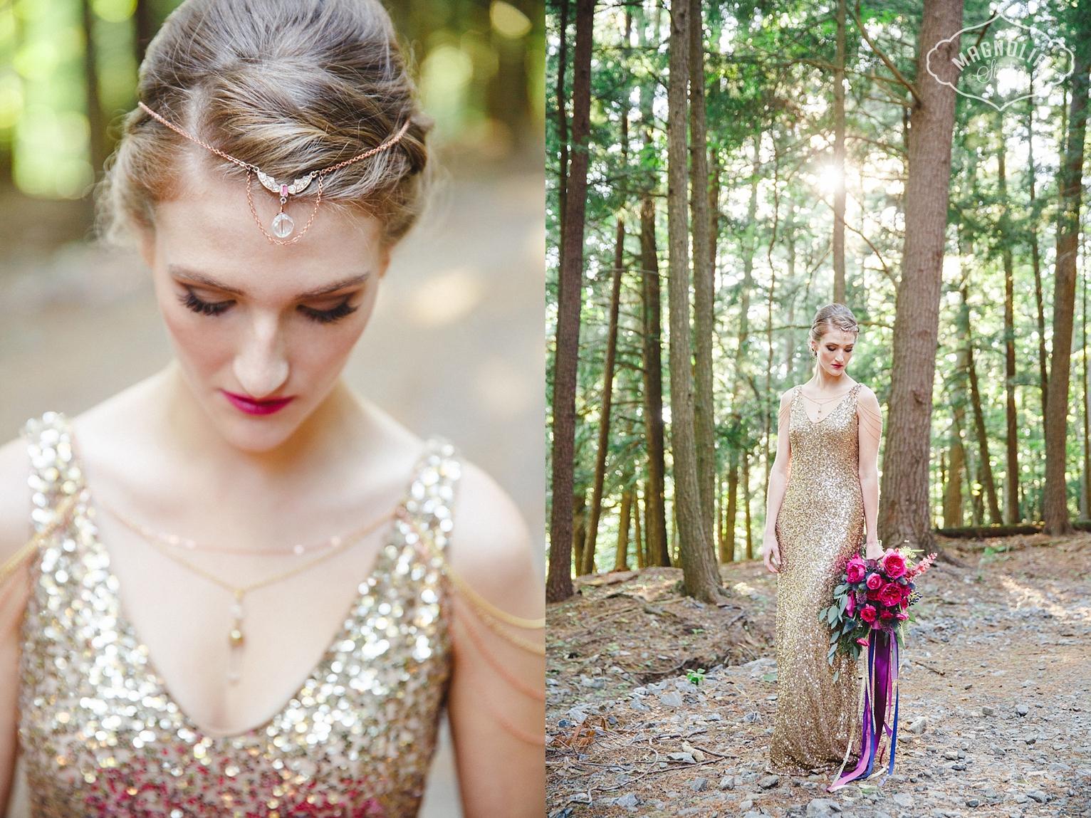 gold sequin wedding dress by Ralph Lauren