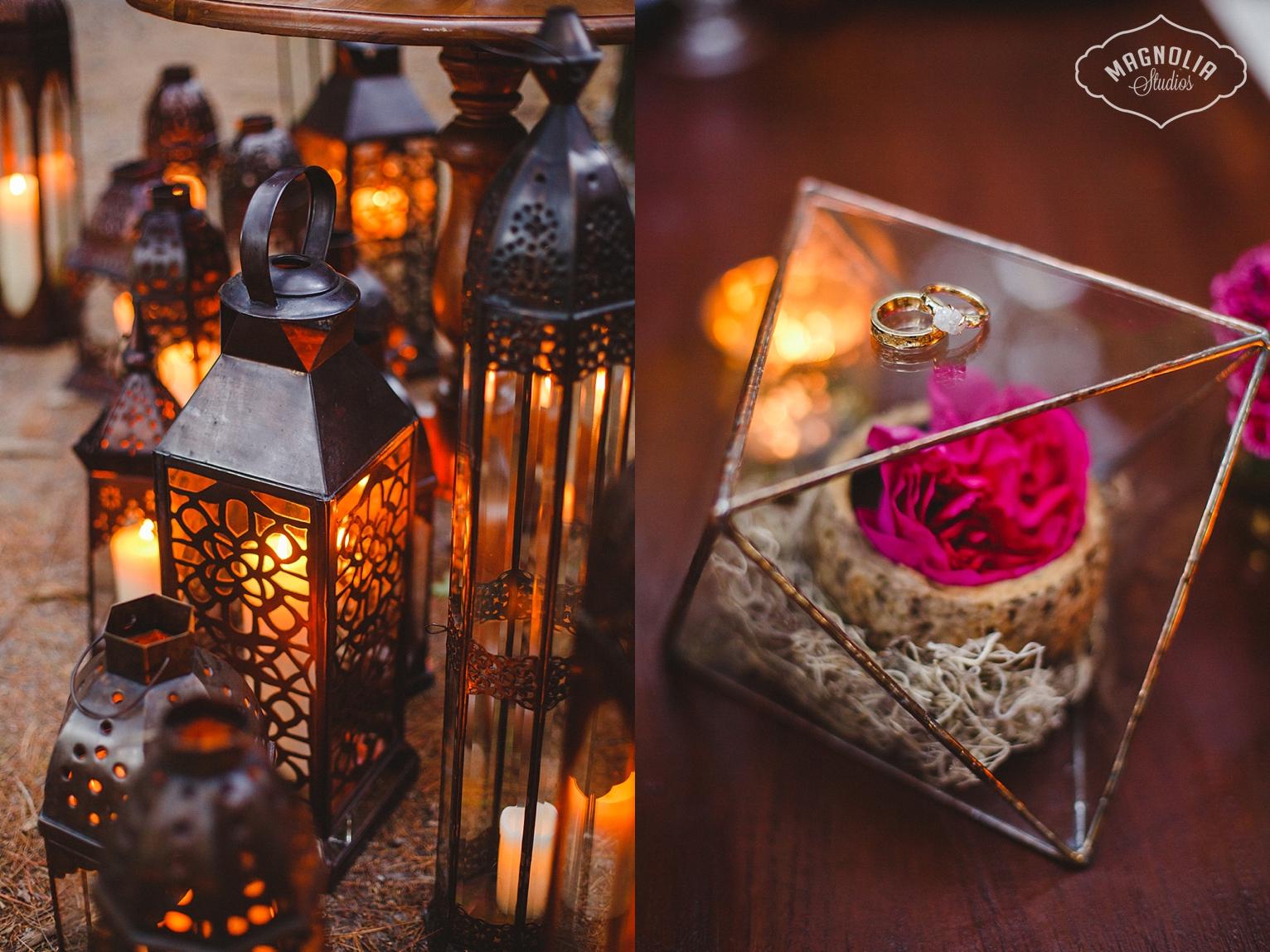 West Elm Faceted terrarium for wedding decor