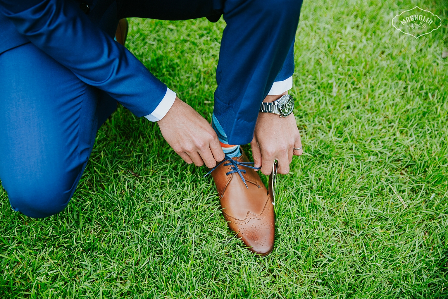 grooms brown leather shoes
