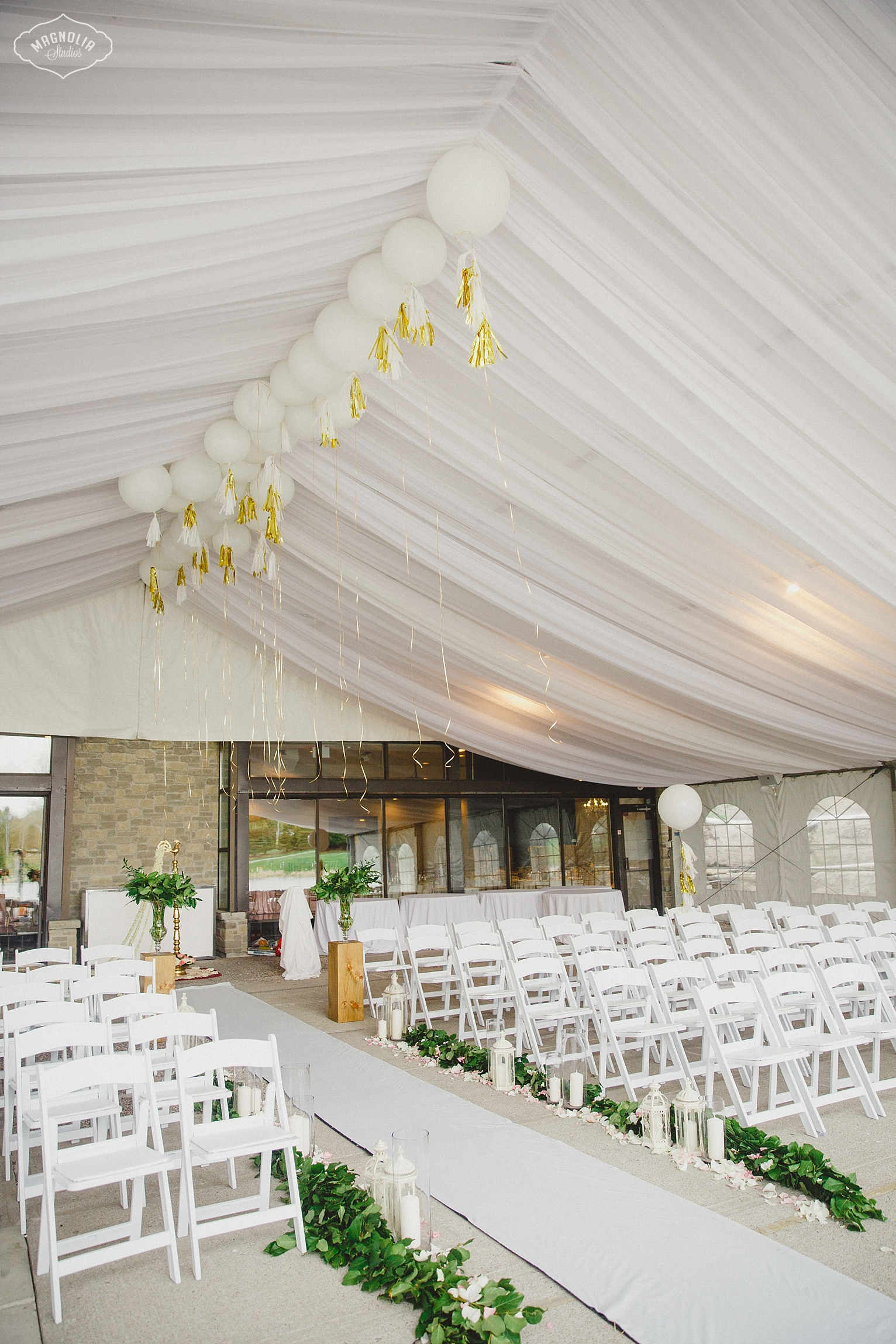 Outdoor ceremony at the Manor