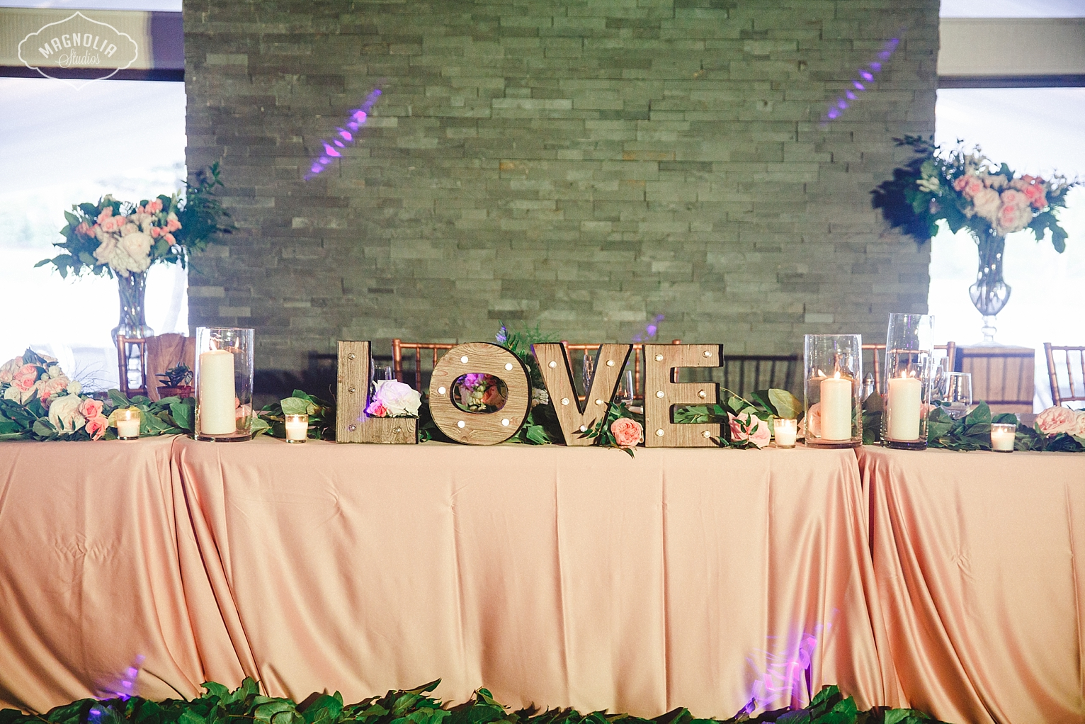 Head table wedding the Manor
