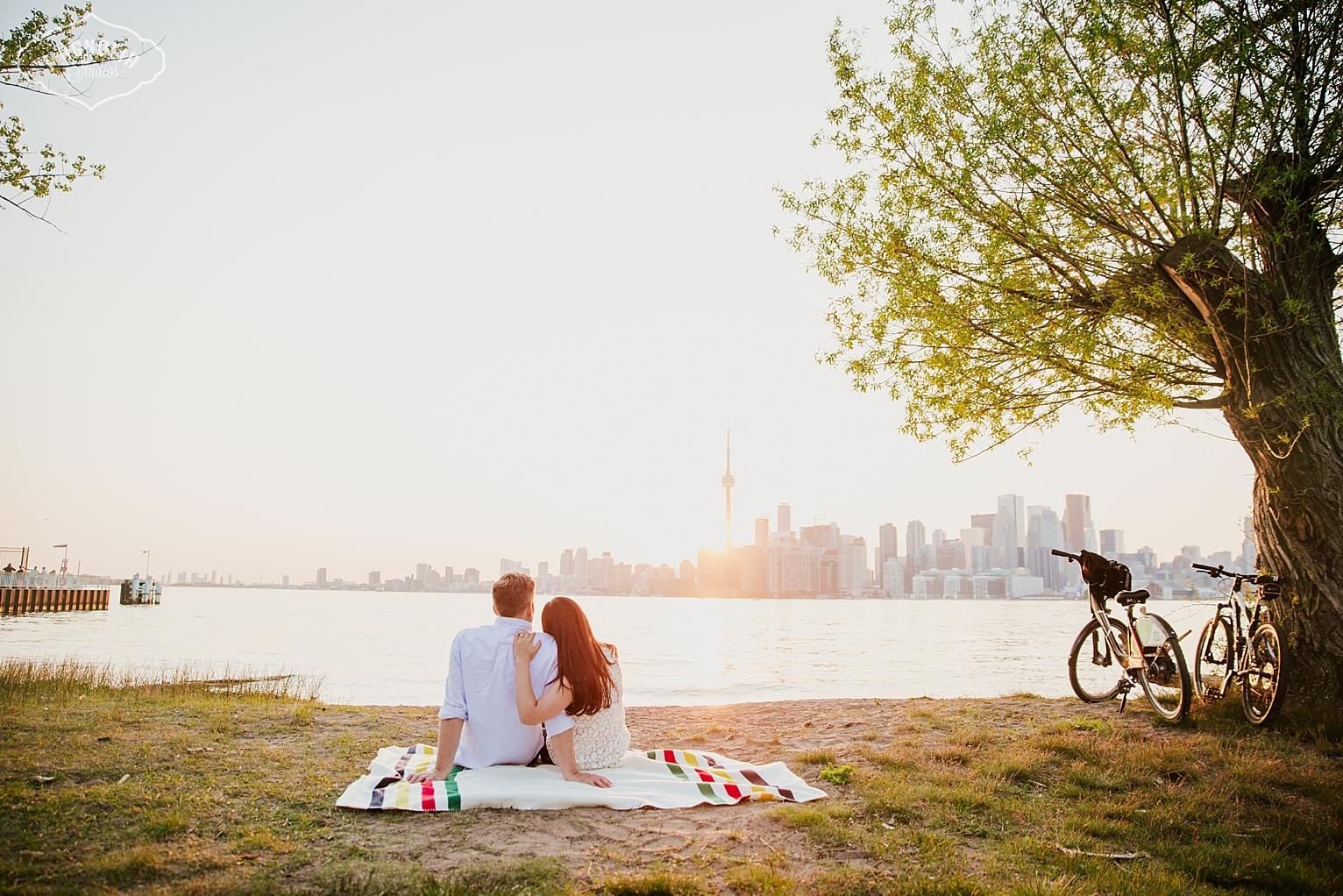 Toronto island engagement