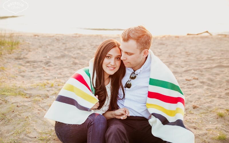 Toronto island engagement shoot