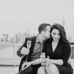 Toronto Rooftop Engagement Shoot