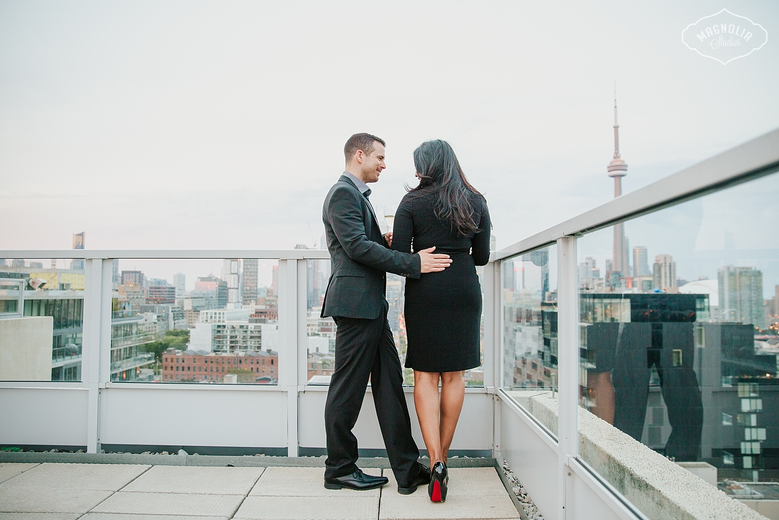 Toronto Rooftop Engagement Photography