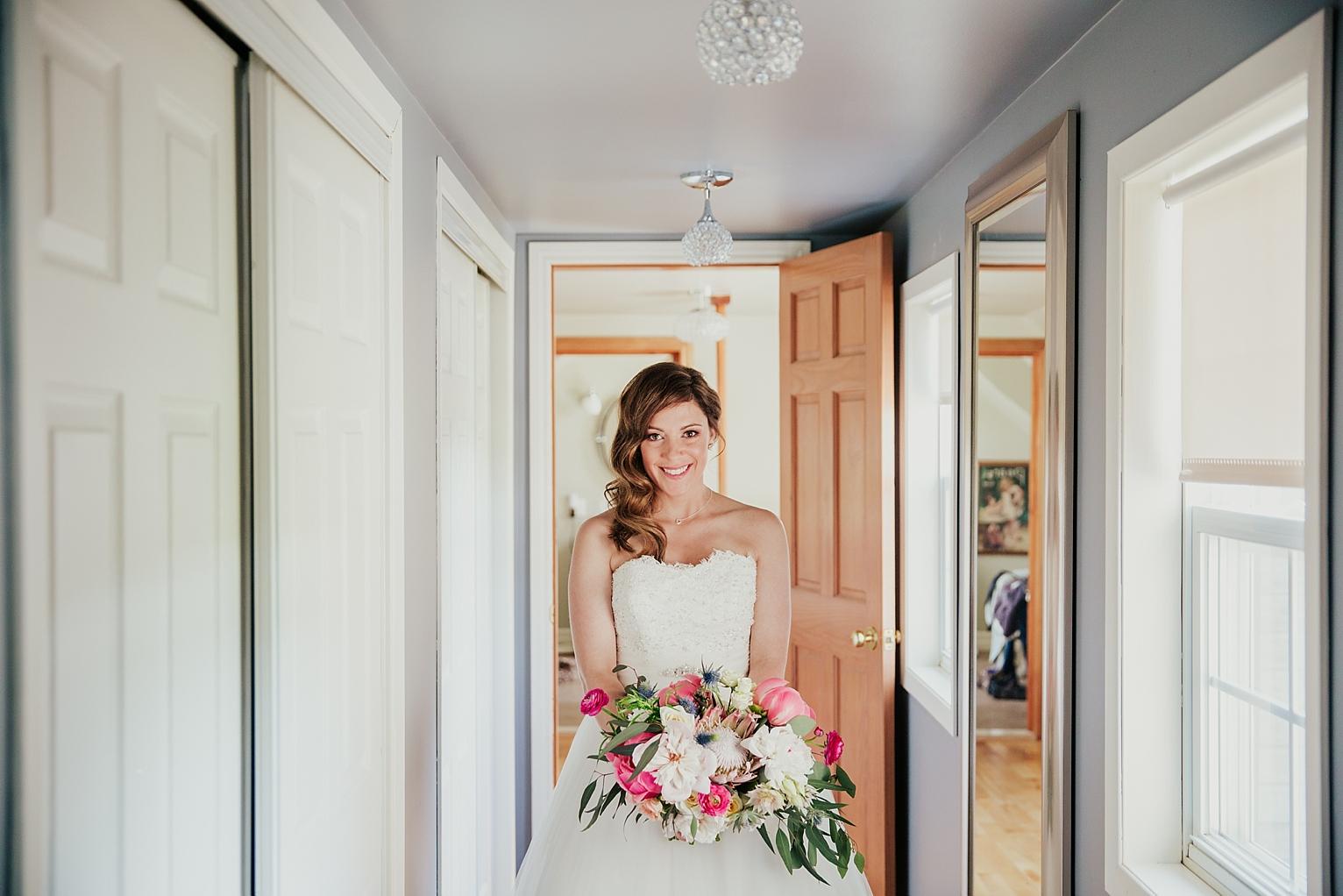 Vintage Bride getting ready