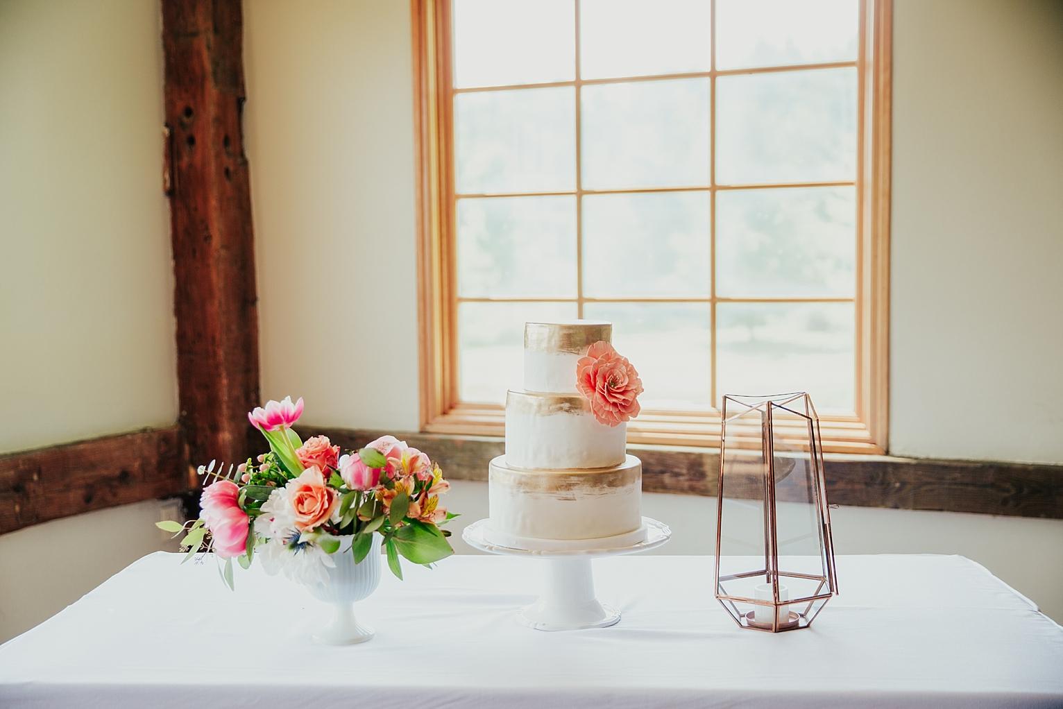 indie wedding cake