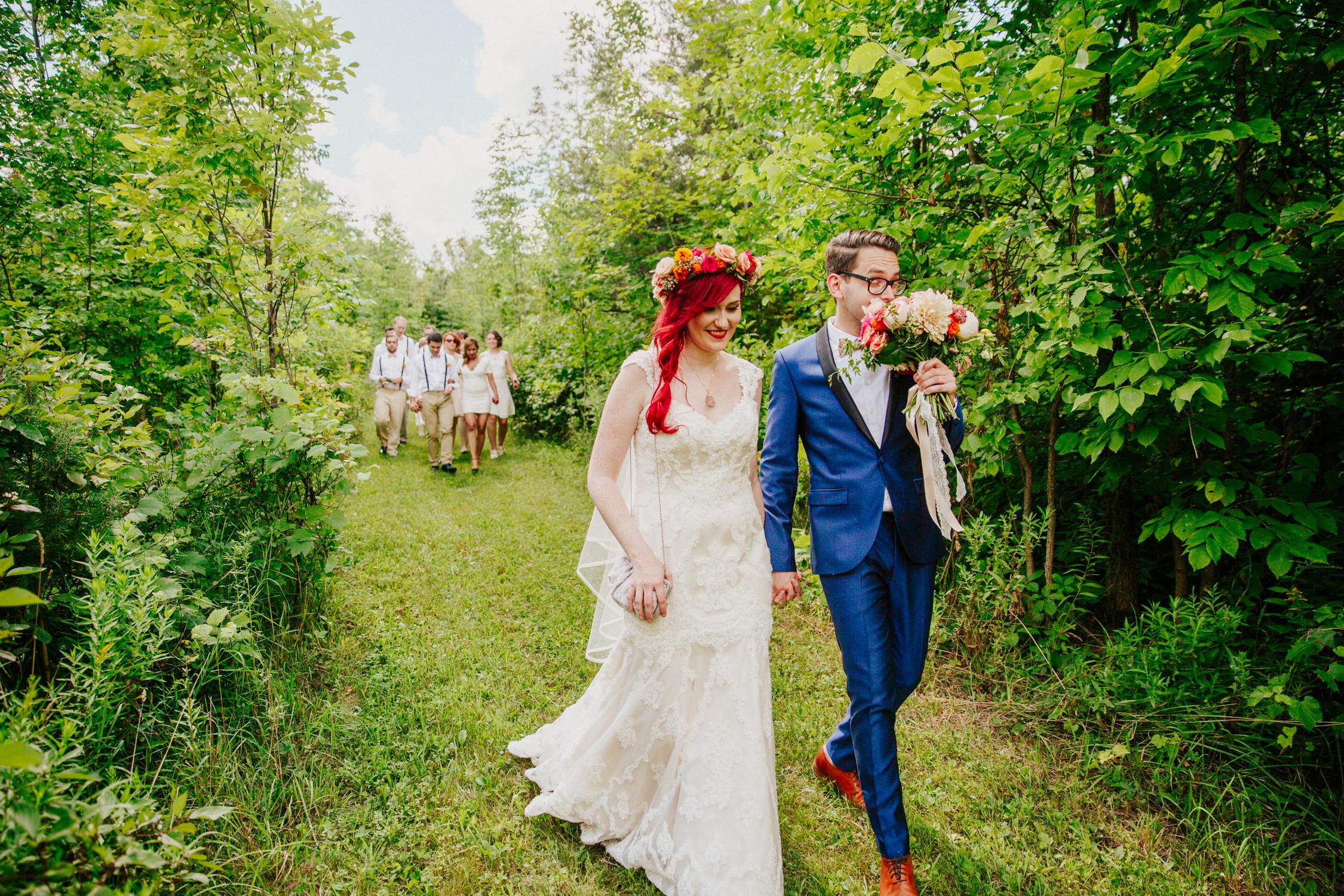 bohemian wedding photography backyard boho couple toronto