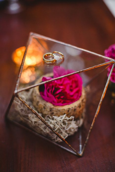 raw diamond wedding rings geometric decor