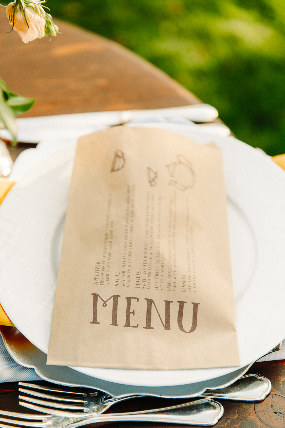 creative wedding menu ideas