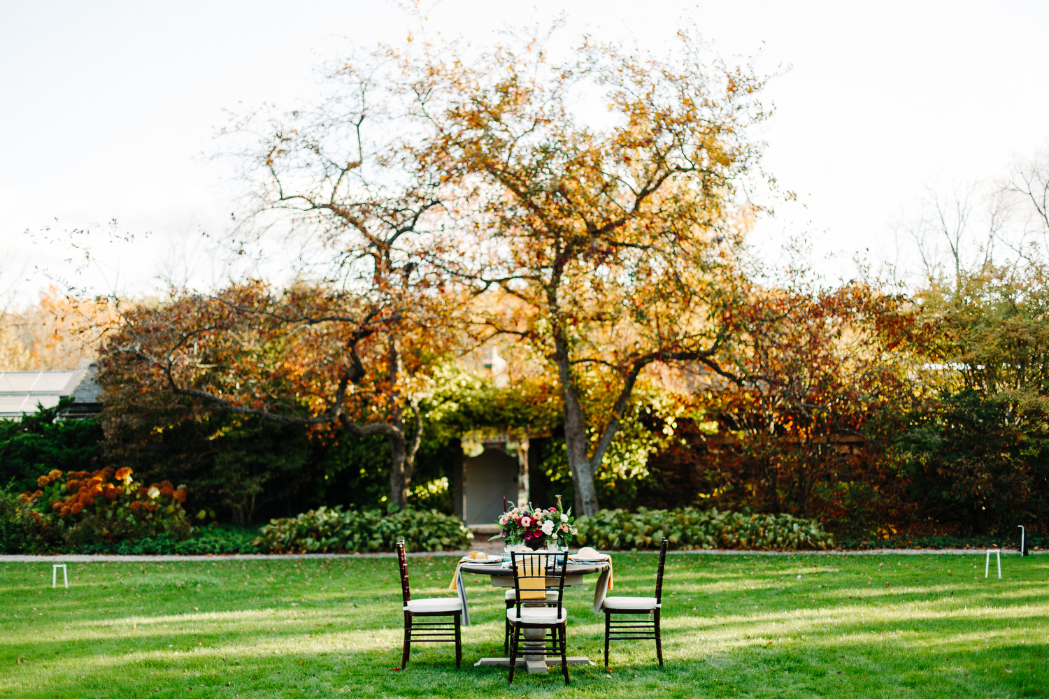 outdoor wedding at langdon hall