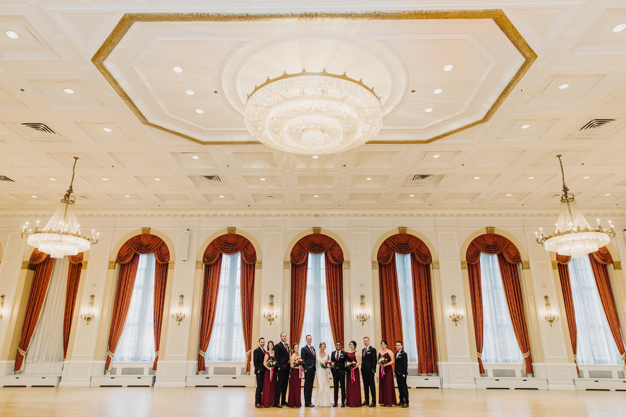 Wedding party photos in the Royal York Ballroom