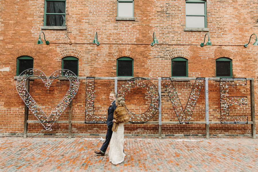 wedding photography in distillery district