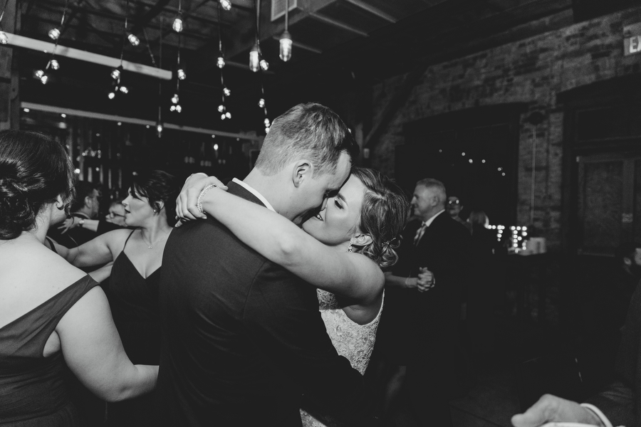 first dance at archeo in distillery