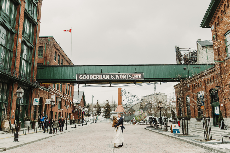 Wedding in the Distillery District