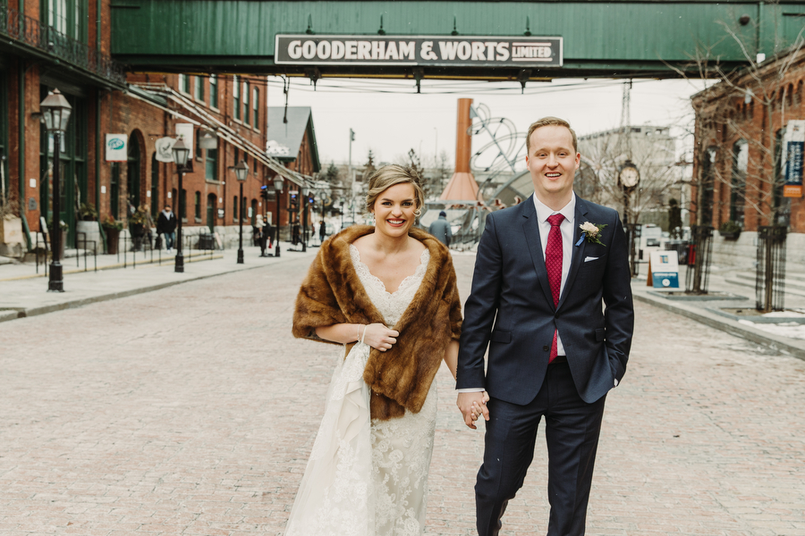 Wedding photography in the Distillery District