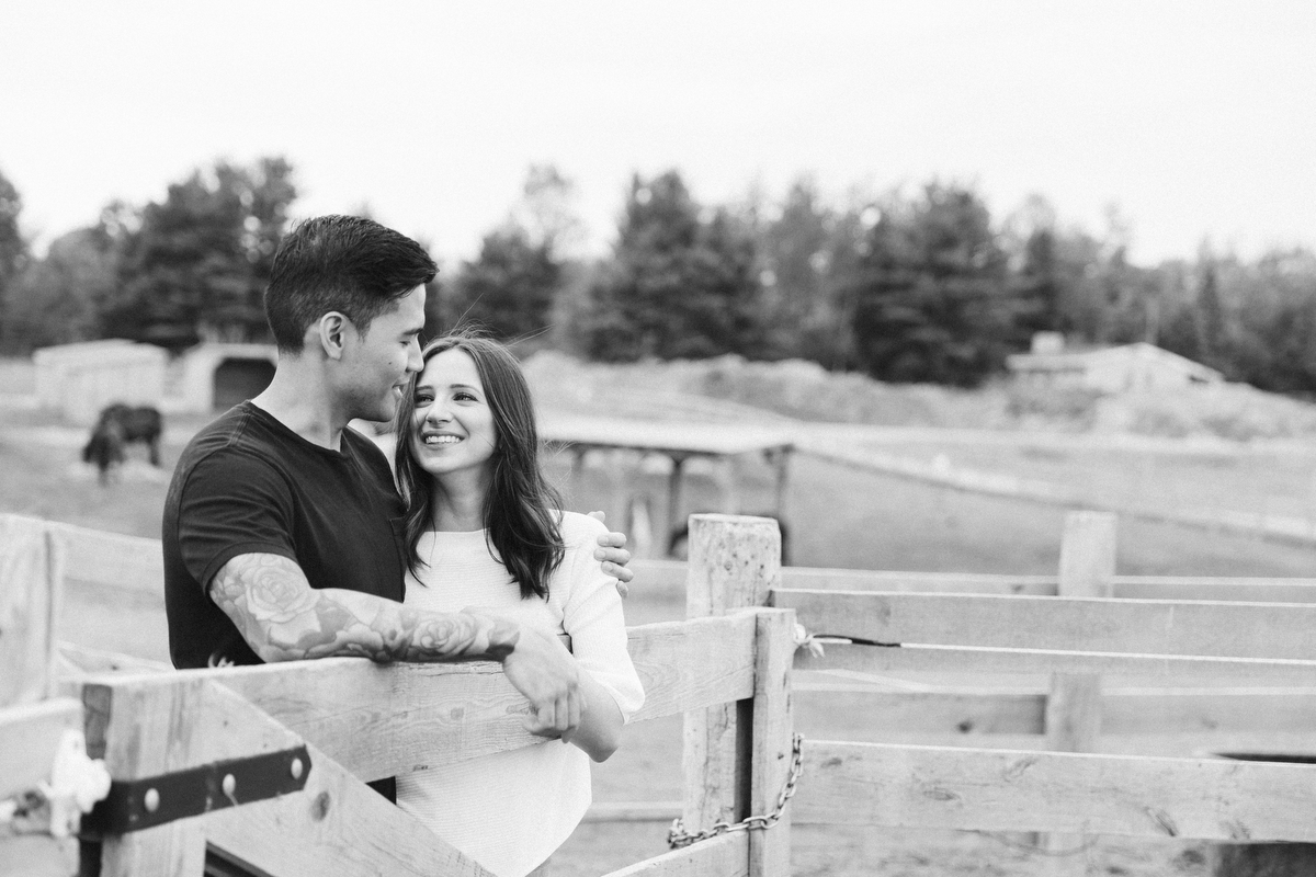 country engagement shoot at a ranch
