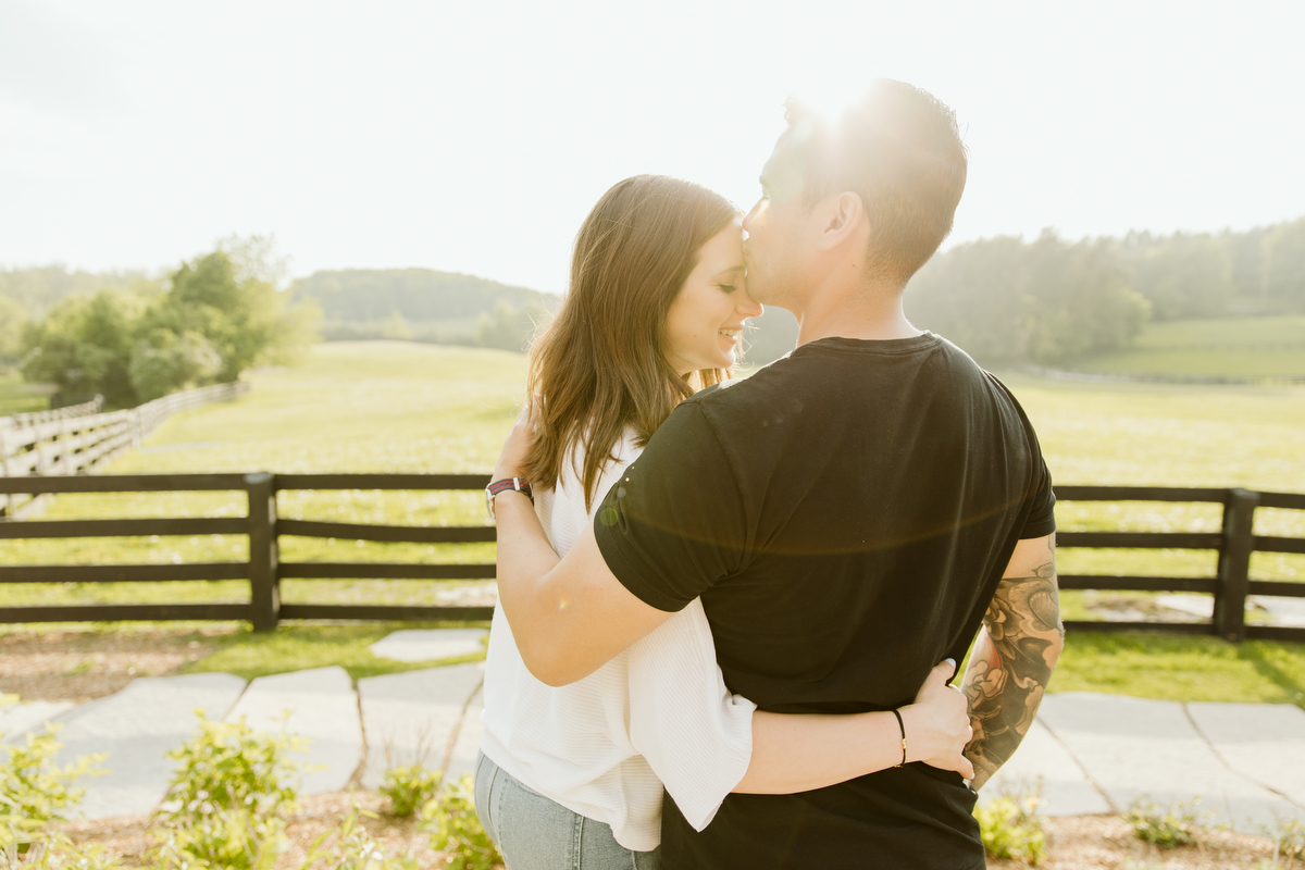toronto engagement photographer shoot a country shoot on a farm