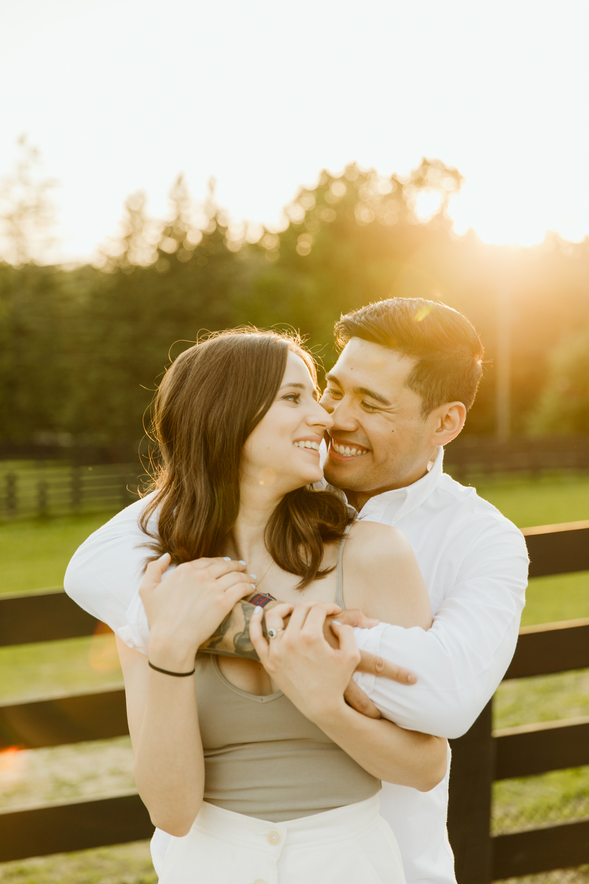 country farm engagement shoot at dog tales rescue