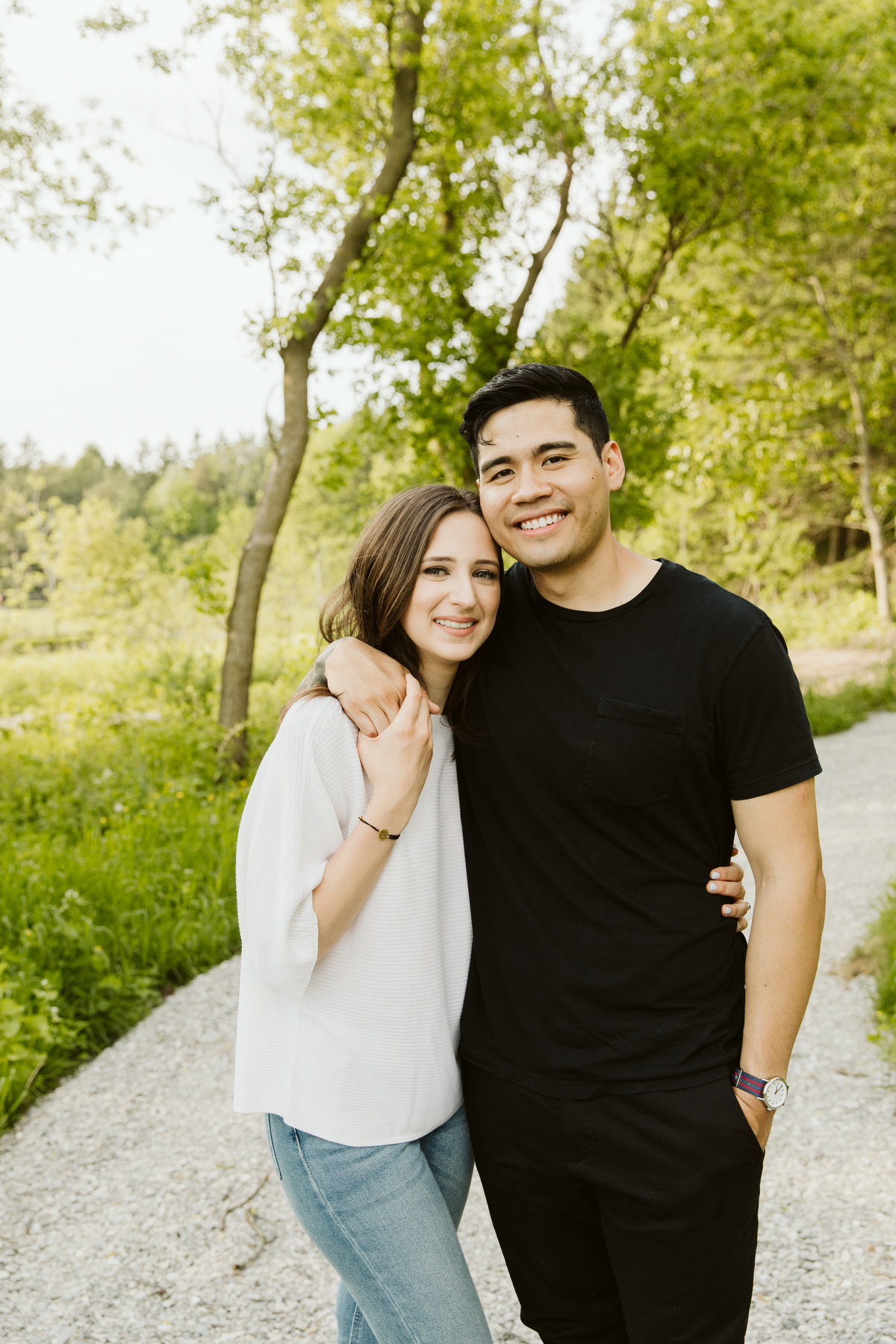 engagement photography in the country
