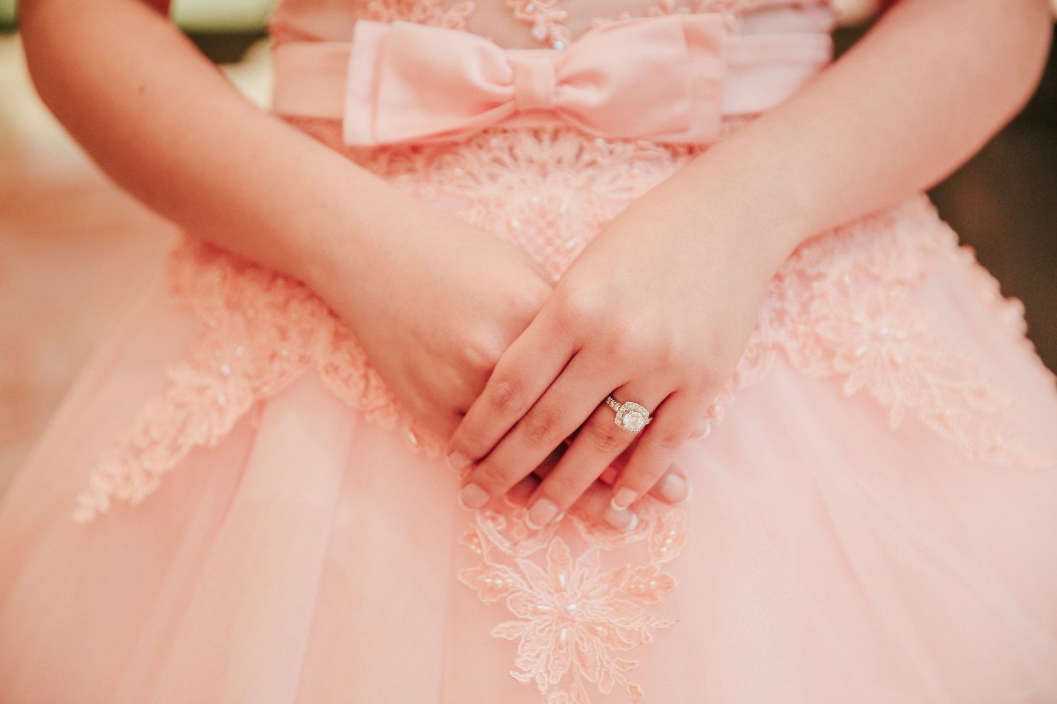 pink wedding dress photography toronto