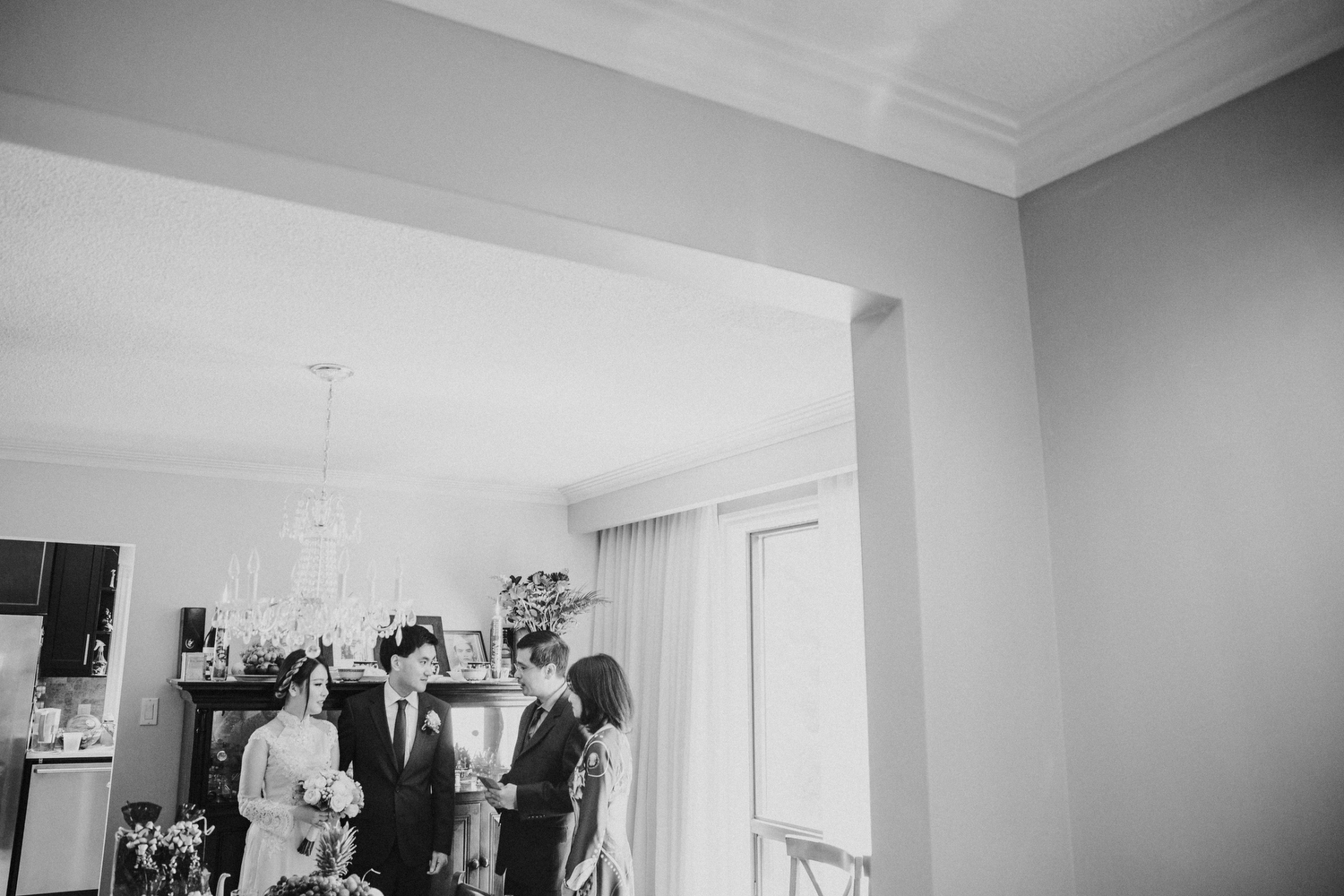 Intimate at home ceremony toronto