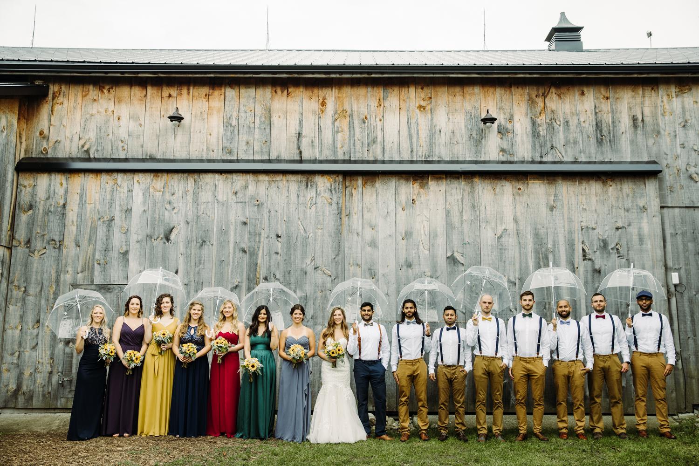 colourful wedding party photos