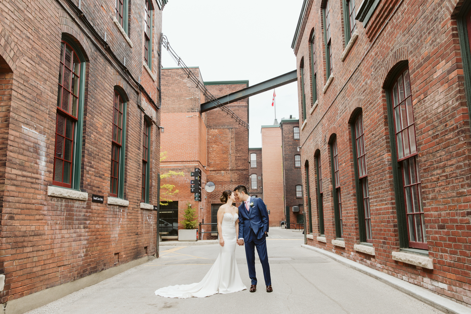 Downtown Toronto Indie wedding photography in Liberty Village