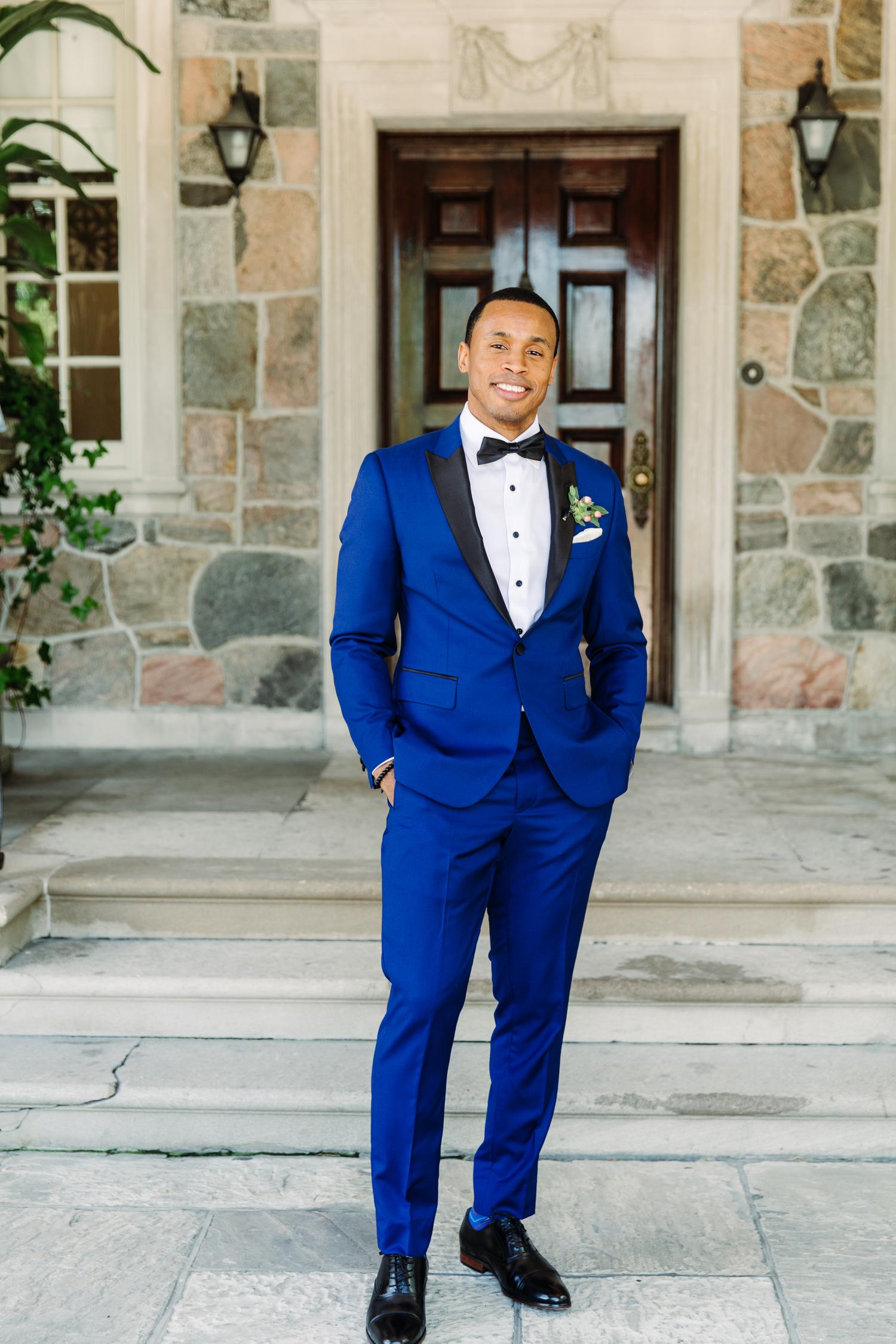 grooms suit C.E. Clothier Inc.