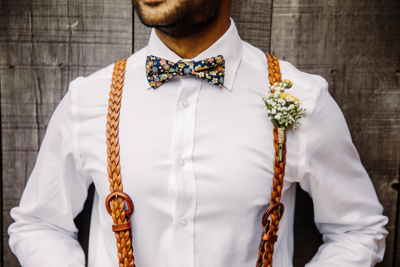 groom style leather braided suspenders