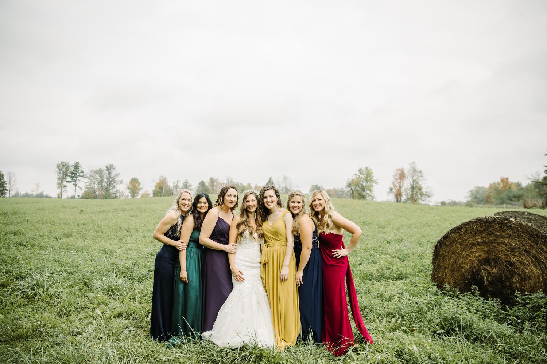 missmatched bridesmaids dresses