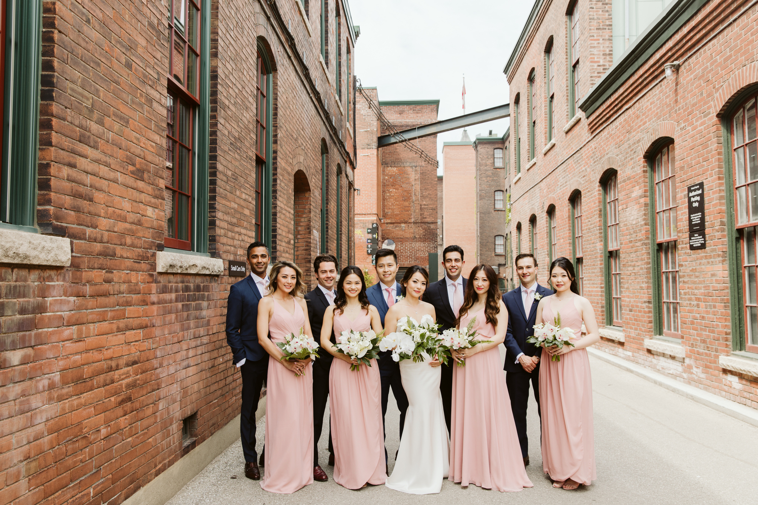 Wedding party photography in Liberty Village