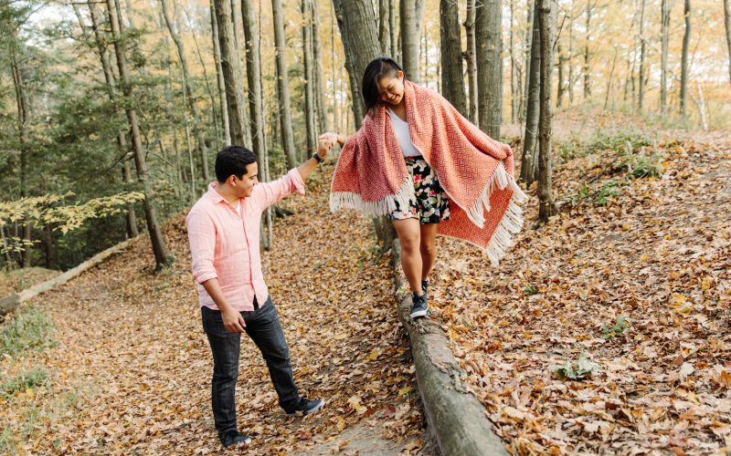 vista trail forest engagement photography toronto