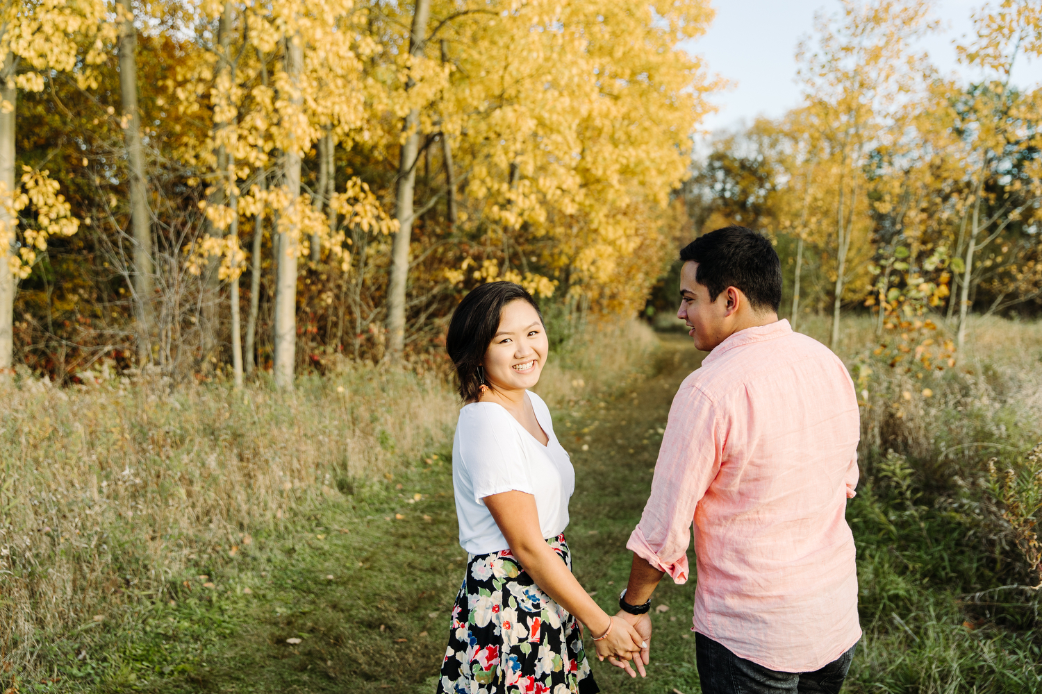 fall engagement photography toronto