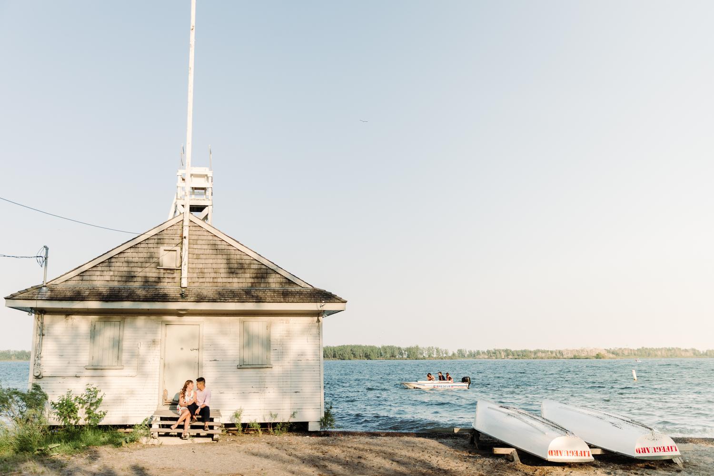 lakeside engagement photography toronto