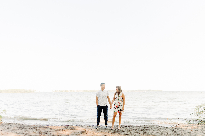 cherry beach toronto engagement pictures