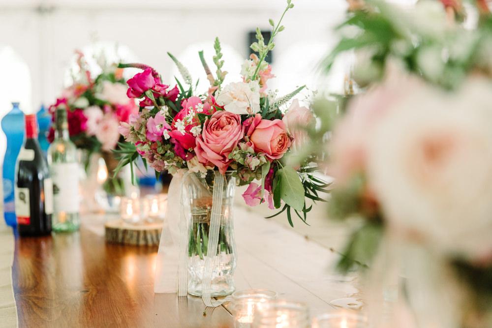 wildernis floral wedding centrepieces
